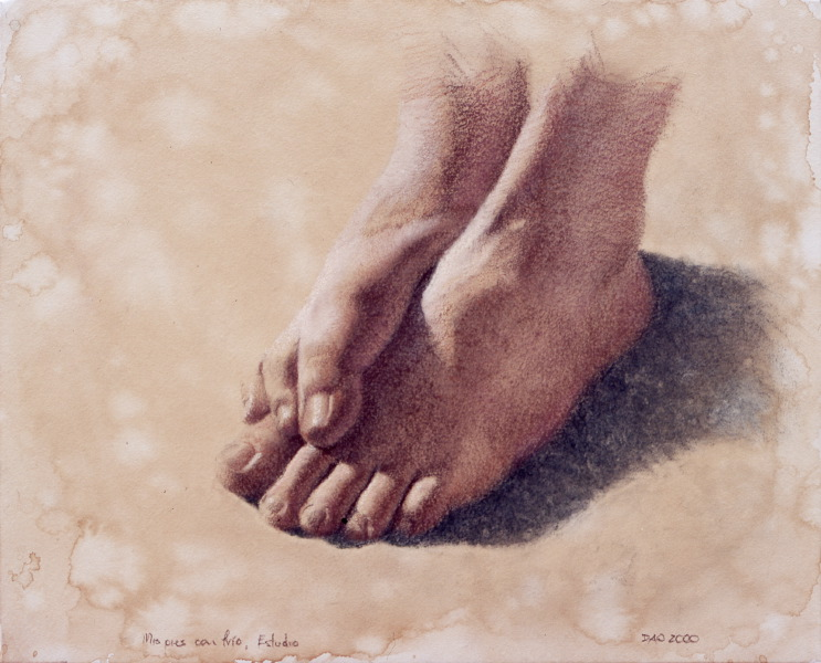 My feet with cold I. Study for sculpture | DAO